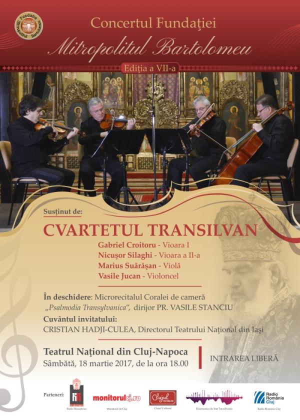 Concertul Fundatiei Mitropolitul Bartolomeu